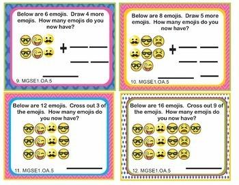 Georgia MGSE1.OA #1-8 Math Task Cards BUNDLE - 200 Task Cards