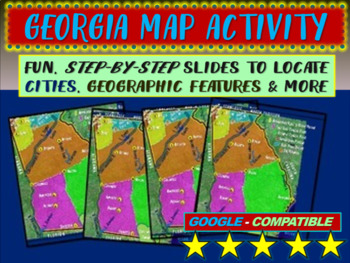 Georgia Map Activity - follow-along PowerPoint with blank