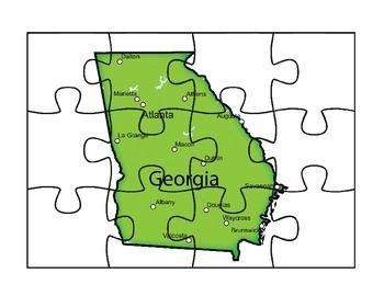 Georgia Map Puzzle Fun