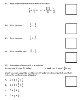 Georgia Math 5th Grade Unit 4 Summative Practice - Editable