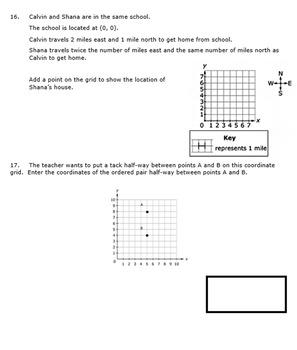 Georgia Math 5th Grade Unit 7 Summative Practice - Editable