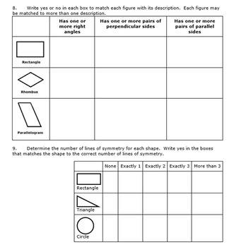 Georgia Math 5th grade Unit 5 Summative Practice - Editable
