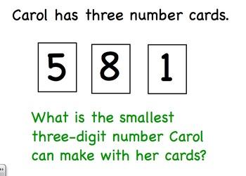 Georgia Math Grade 2 Unit 1 Carol's Number Review