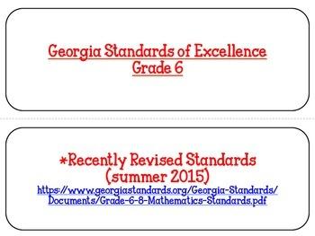 Georgia Math Standards Grade 6