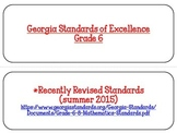 Georgia Math Standards Grade 6