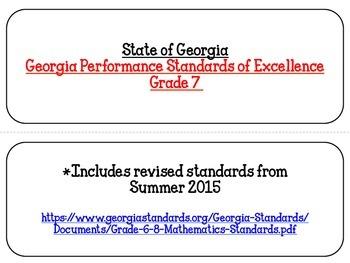 Georgia Math Standards Grade 7
