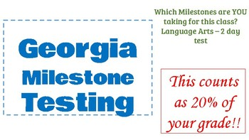 Georgia Milestone 9th Literature and Composition Preparation Package