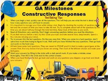 Georgia Milestones - Mathematics Constructive Responses (3rd Grade)