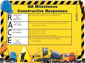 Georgia Milestones - Mathematics Constructive Responses (4th Grade)