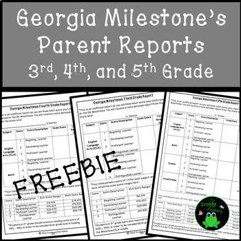 Georgia Milestones Parent Report FREEBIE