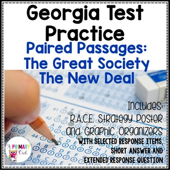 Georgia Milestones Prep Packet: The New Deal and The Great