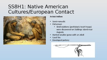 Georgia Milestones Review Power Point-Prehistory and European Contact