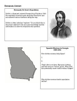 Georgia Milestones Review--Prehistory and European Contact