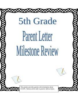 Georgia Milestones Review or Parent Handout/Study Guide fo