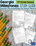 Georgia Milestones Science Study Guide Fourth Grade