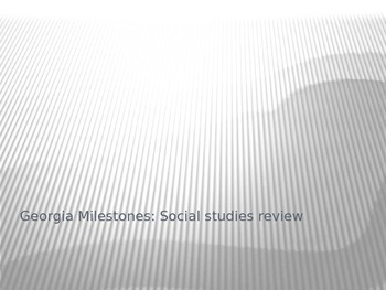 Georgia Milestones: Social Studies Review