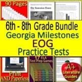 Georgia Milestones Prep EOG ELA Practice Tests and Games Bundle! GMAS