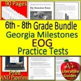 Georgia Milestones Test Prep EOG Practice Tests for GMAS Bundle ELA Gr. 6-8