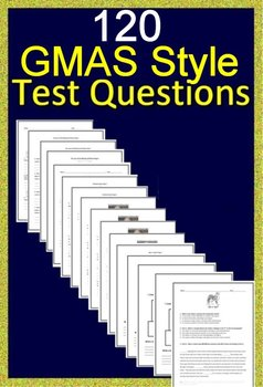 Georgia Milestones Test Prep Practice Tests Google Bundle Grades 3 - 5 GMAS EOG