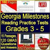 Georgia Milestones Test Prep Practice - Google Bundle Grades 3 - 5 GMAS EOG