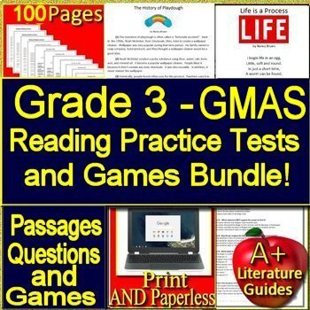 photo regarding Printable 3rd Grade Eog Reading Practice Test titled 3rd Quality Ga Milestones Look at Prep and Online games Offer! Print AND Paperless