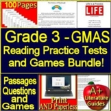3rd Grade Georgia Milestones Test Prep and Games Bundle! Print AND Paperless