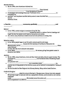 Georgia Milestones US History SSUSH7 Cloze Notes