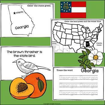 Georgia Mini Book for Early Readers - A State Study