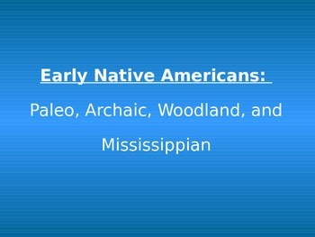 Georgia Native Americans and Prehistory