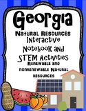 Georgia Natural Resources Interactive Notebook and STEM Activities