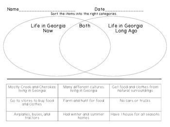 Georgia Now and Long Ago (Creek and Cherokee)
