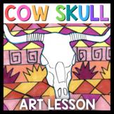 Art Lesson: Cow Skull Art Game | Art Sub Plans