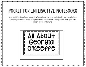Georgia O'Keefe - Famous Artist Biography Research Project, Interactive Notebook