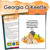 Georgia O'Keeffe Artist Portrait, Quote, and Handout/Distance Learning Lesson