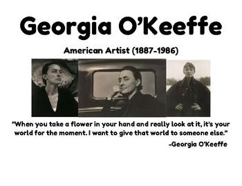 Georgia O'Keeffe Close Up Flowers Project