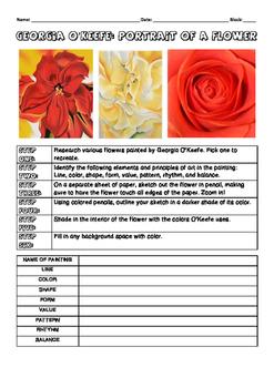 Georgia O'Keeffe Flower Assignment