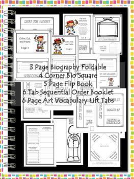 Georgia O'Keeffe Interactive Notebook Foldables