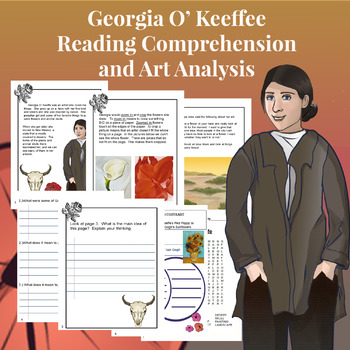 Georgia O'Keeffe Reading Comprehension Packet
