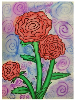 Georgia O'Keeffe Rose Lesson Plan and Tutorial
