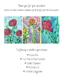Georgia O'Keeffe Rose Lesson Plan and Tutorial