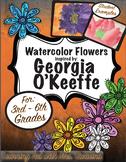 Georgia O'Keeffe Springtime Watercolor Flowers
