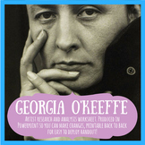 Georgia O'Keeffe artist research & anaylsis worksheet