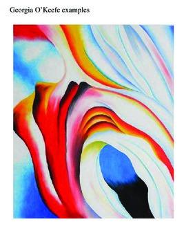 Georgia O'Keefe Abstract Pastels