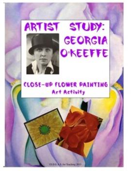 Georgia O'Keeffe Close-Up Flower Art Activity