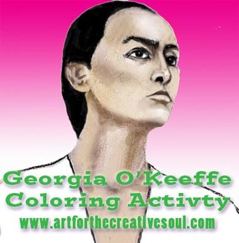 Georgia O'Keeffe Coloring Activity