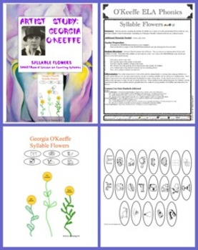 Georgia O'Keeffe Syllable Flowers