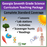 Georgia Performance Standards - 7th Grade Science - Complete Resource Package