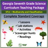 Georgia Performance Standards - 7th Grade - S7L1: Biodiversity & Classification