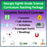 Georgia Performance Standards - 8th Grade Science - Complete Resource Package
