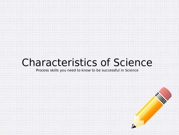 Georgia Performance Standards Characteristics of Science PowerPoint